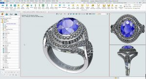 complex cad jewelry designs
